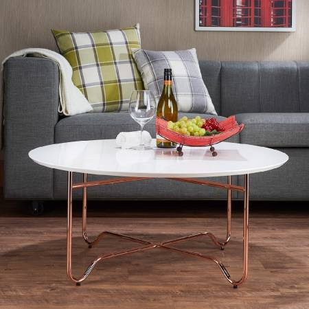 Rose Gold Material High-Textured Coffee Table - Coffee table lightweight, easy to move