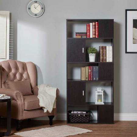 Checkerboard Large Storage Cabinet - Large capacity storage space with luxuriant bookish.