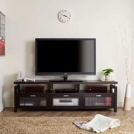 古典的な装飾的な引き出しTVスタンド - シールドスタイリングTVスタンド。