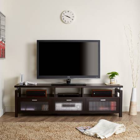 Classic Decorative Drawer TV Stand - Shielded styling TV stand.