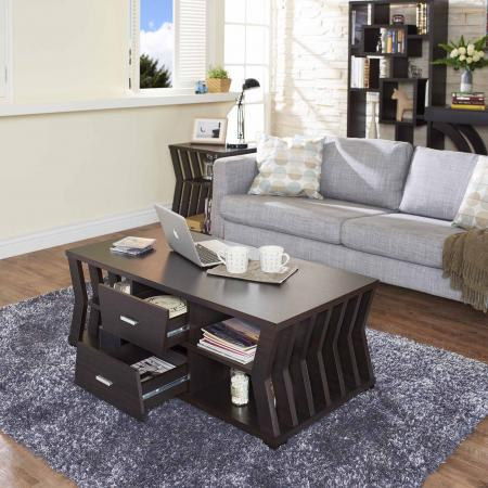 Classical Sandglass Shape Coffee Table - Shape design based on the sandglass