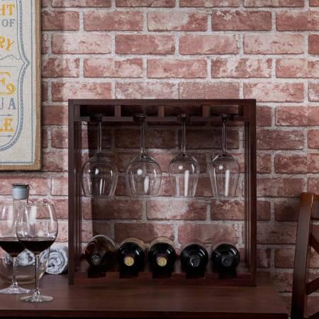 Casier à vin de rangement carré Country - Cadre de style manoir européen.
