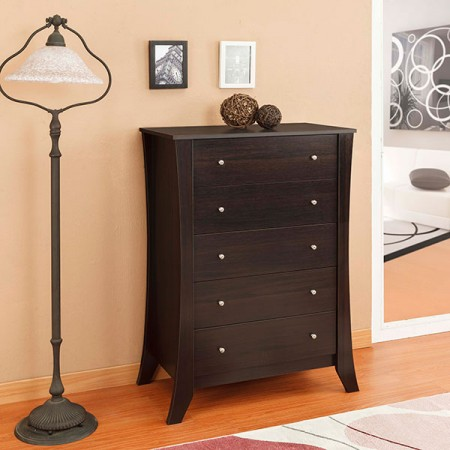 Curl big capacity drawer chest - Five Cupboard, Curve Modeling, Living Room, Bedroom, Lamp.