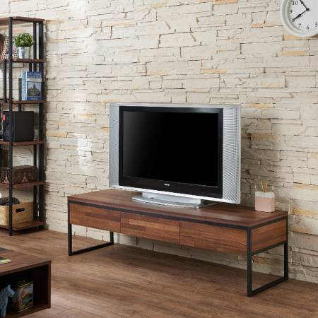 Dark Teak Retro TV Stand - Nordic simple style TV stand.
