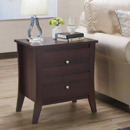 Double Drawer Functional Side Table