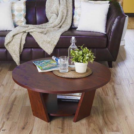 Double layer round tabletop coffee table - Easy DIY furniture makes your home fulfill many different feelings
