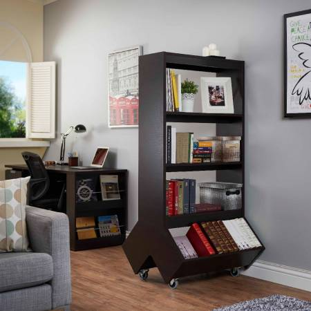 Easy Move Large-Capacity Bookcase