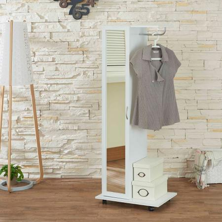 Easy Movable White Wardrobe - The Easy movable white wardrobe is the simple type wardrobe, and it has wheels to move anywhere conveniently, has the flexibility of the height.