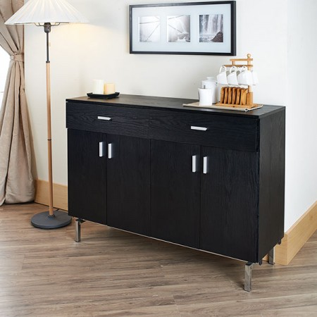 Full Size Storage Cabinet - Dark noble and elegant storage cabinet.