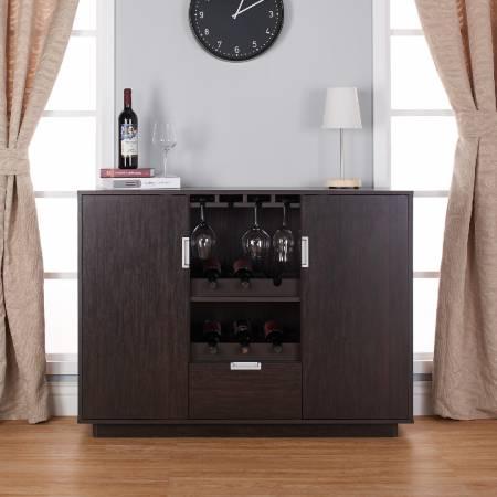 Functional Espresso Wine Rack - Big storage space wine rack.