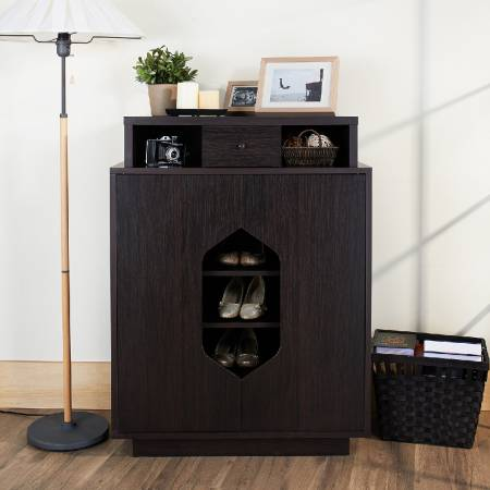 Hexagonal Semi - Perspective Shoe Cabinet - Semi-perspective of the shoe, show off your love shoes.