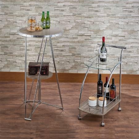 Tavolo da bar alto per il tempo libero - Tavolo da bar in legno per il tempo libero.