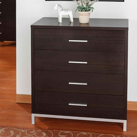 4 layers storage cabinet with paper laminate metal foot stool - Living Room, Bedroom, Metal Cabinet Feet, Four Drawers, Elegant Texture.