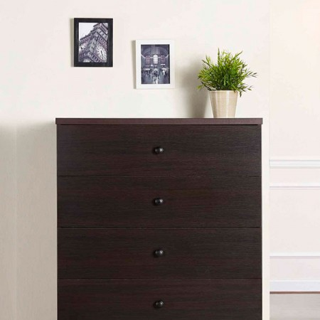 5 layers walnut storage cabinet - Multi-storage drawer with large cabinets storage space, let you room neat and not messy.