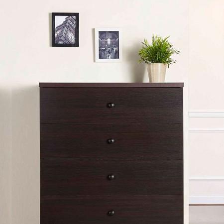 5 layers walnut storage cabinet