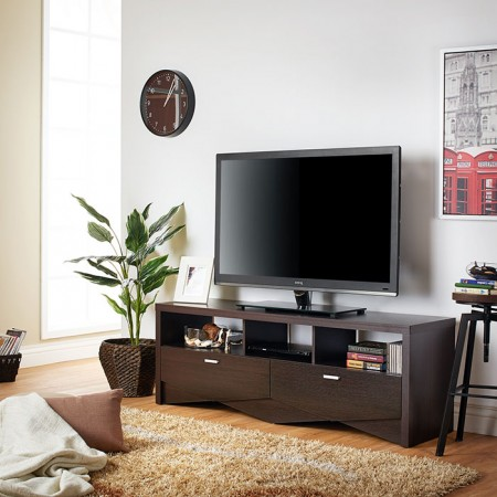 TV Stand - Mirror, racks, storage space, removable, white, bedroom, apparel industry.