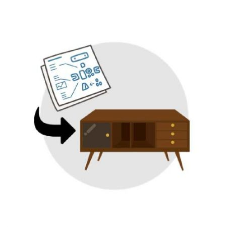 The third step to achieve independent furniture. Furniture sampling.