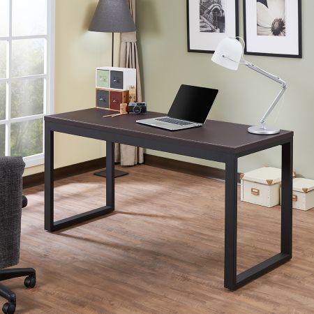 Tavolo da ufficio con struttura in similpelle - Tavolo da ufficio con struttura in similpelle