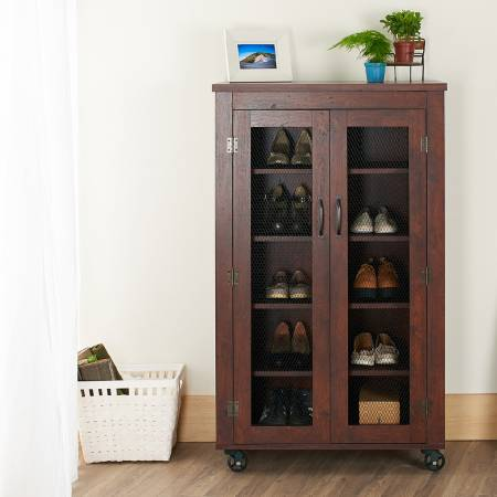 Industrial Wind Mobile Shoes Cabinet - Mobile shoe cabinet.