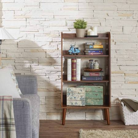 Japanese-Style Retro Bookcase - Japanese retro style walnut bookcase, make space clean and tidy.