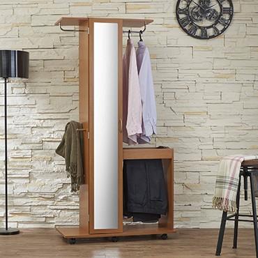 High quality wooden veneer wardrobe + vanity - Little Helper - Slicethinner Wardrobe