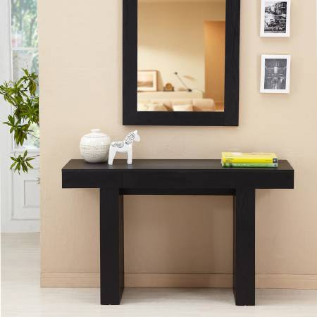 Modern High Quality Black Console Table - High quality black console table.