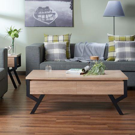Modern Minimalist Wood Coffee Table