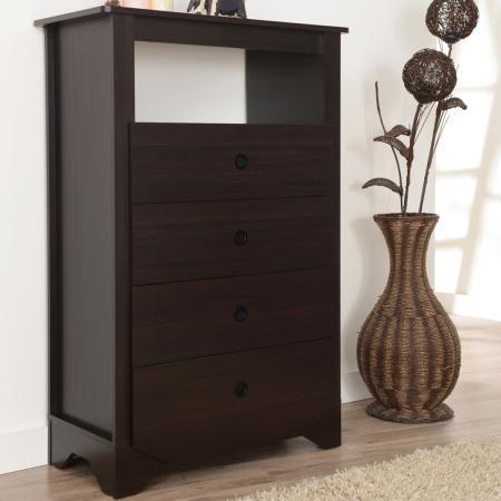 Modern Sense Design Пятиэтажный шкаф шириной 60 см - Четыре решетчатых ящика большой вместимости.