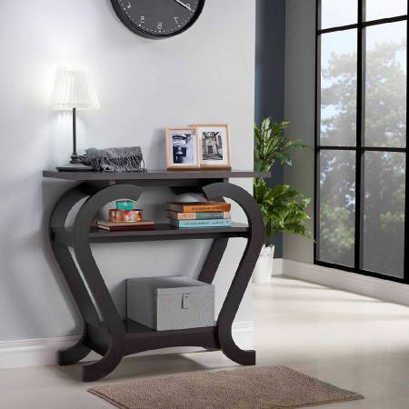 Modern Simple Curved Console Table - Curved legs Emphasize smooth design.