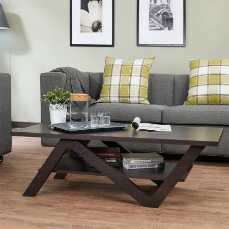 N الشكل الفضاء طاولة القهوة - أنه يحتوي على جمالية وعملية.