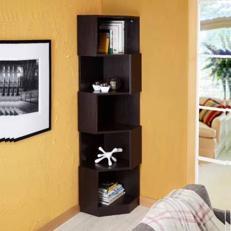 Polygon Modeling Bookcase - 90-degree angle bookcase. It can be completely independent of the wall.