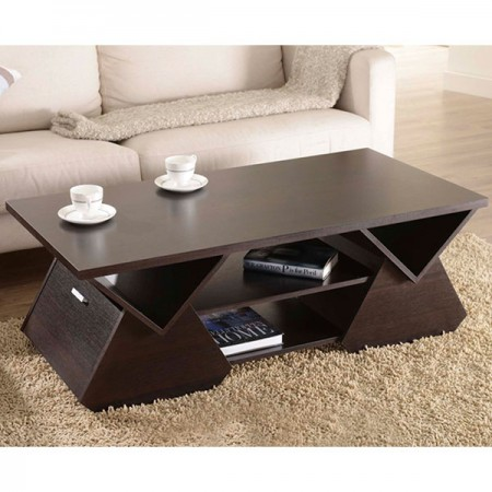 Pyramid Geometric Coffee Table - Design inspiration from the poker stack, it showing a simple modern attitude.