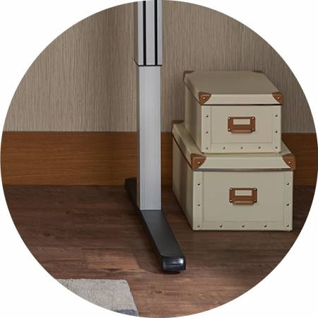 The height of the desktop can be adjusted by the user, the adjustment range of 73 ~ 120CM.