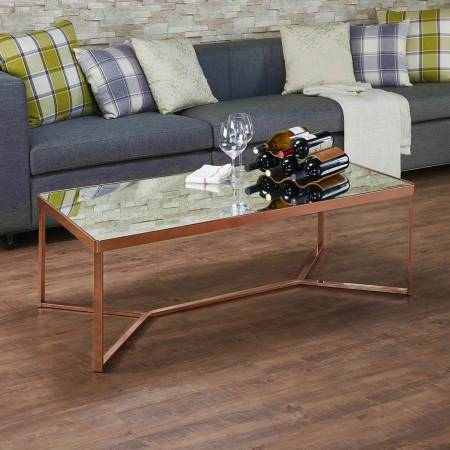 Rectangle Mirror Surface Glass Coffee Table - we maintain accurate professional skill to make the metal surface smoothly