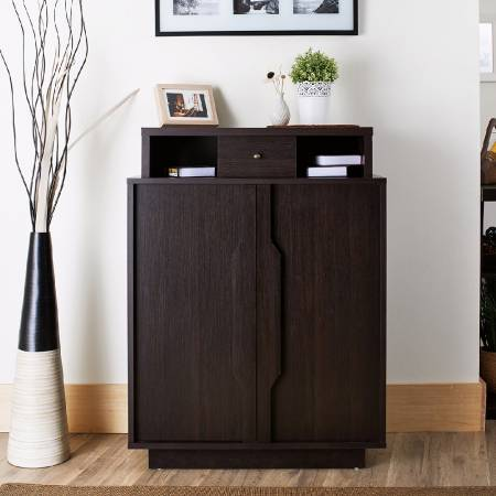 Retro Multifunctional Shoes Cabinet - There are five layers of shoes storage space.