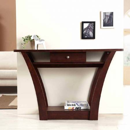 Retro Up-And-Down Symmetric Console Table - The upper side plane may place the small statue or some decorations.