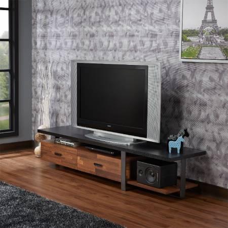 Сэндвич-подставка под телевизор - Зажатая стильная подставка под телевизор.