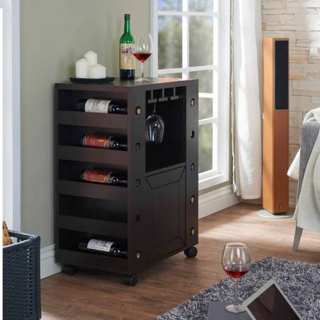 Simple Ten-Grid Wine Rack (Buffet Table) - Ten bottles of wine can be placed on the left and right sides. The safe side storage design allows the bottle not to drop.