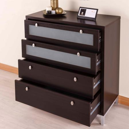 Simple 1M 4 Layers Storage Cabinet - Espresso wooden vein high quality laminate storage cabinet.