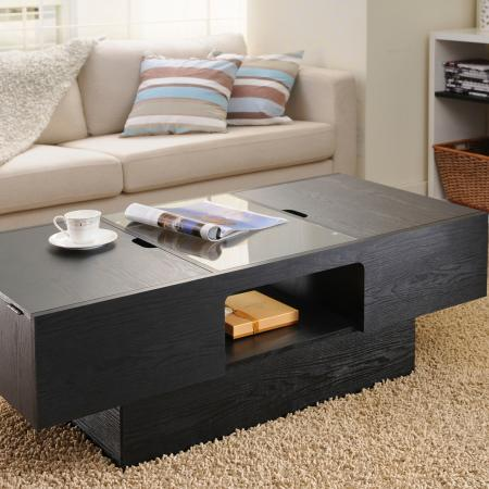Simple Style Magically Big Space Coffee Table - Use the fillister design can easily open the tabletop easily, then put your necessities, it's easy for you to store