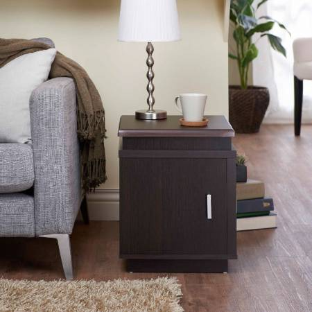 Square Double Door Side Table - Square shape side table