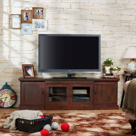 Vintage Walnut Laminate TV stand - Nordic simple style TV stand.