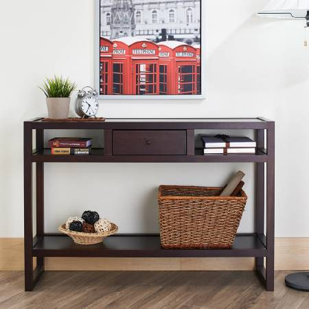 Walnut Quality Solid Wood Retro Shape Console Table - The assemble process can also be faster and easier to complete.