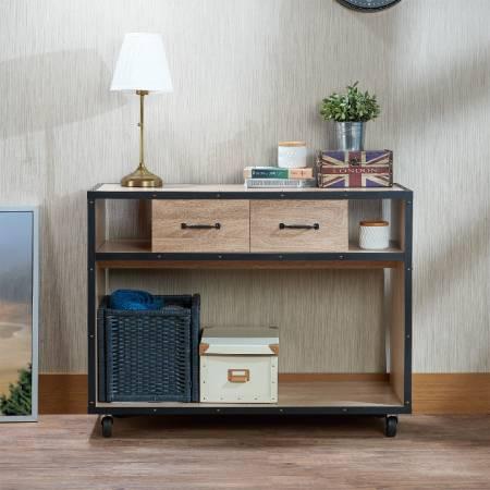 Warm Light Industrial Style Console Table - Warm light industrial style console table, your best home storage helper.
