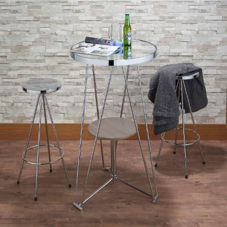 صناعة الخشب رياح عالية شريط الجدول - في المائدة العالية ، اشرب زجاجة بيرة ، واستمتع بلحظة.