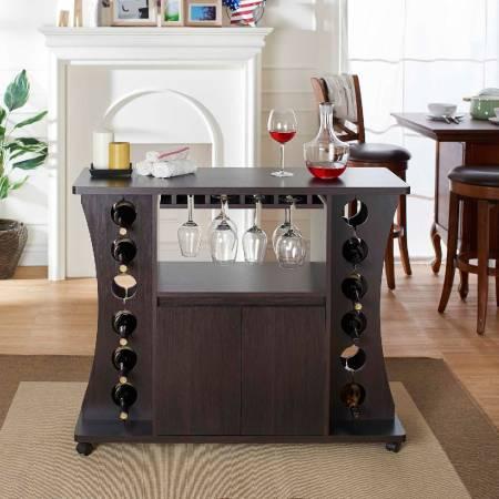 مجلس الوزراء النبيذ خشبي - جو مشرق من الغلاف الجوي للجو المنزل جيدة.