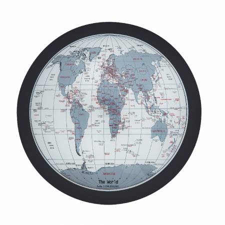World map map assimilated into tabletop, provides for people who like to travel or anything related to geography.