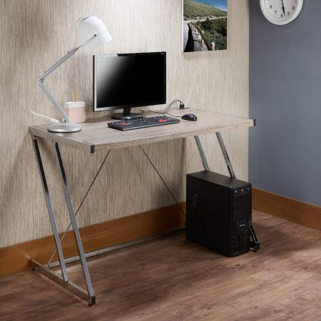 Z-Type High-Quality USB Storage Computer Desk - Nordic minimalist style desk.
