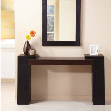 Double Color Console Table - Neat and simple design has a kind of modern beauty feeling.