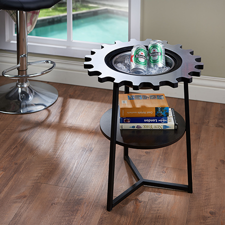 Double Layer Gear Modern Side Table - DIY furniture decoration